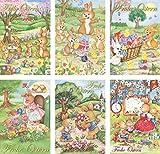 Schaulade 6 Osterhase Osterkarten mit Umschlag Set. Hochwertige Osterpostkarten mit Briefumschlag. Beschreibbare Karten zu Ostern. Postkarten nostalgisch