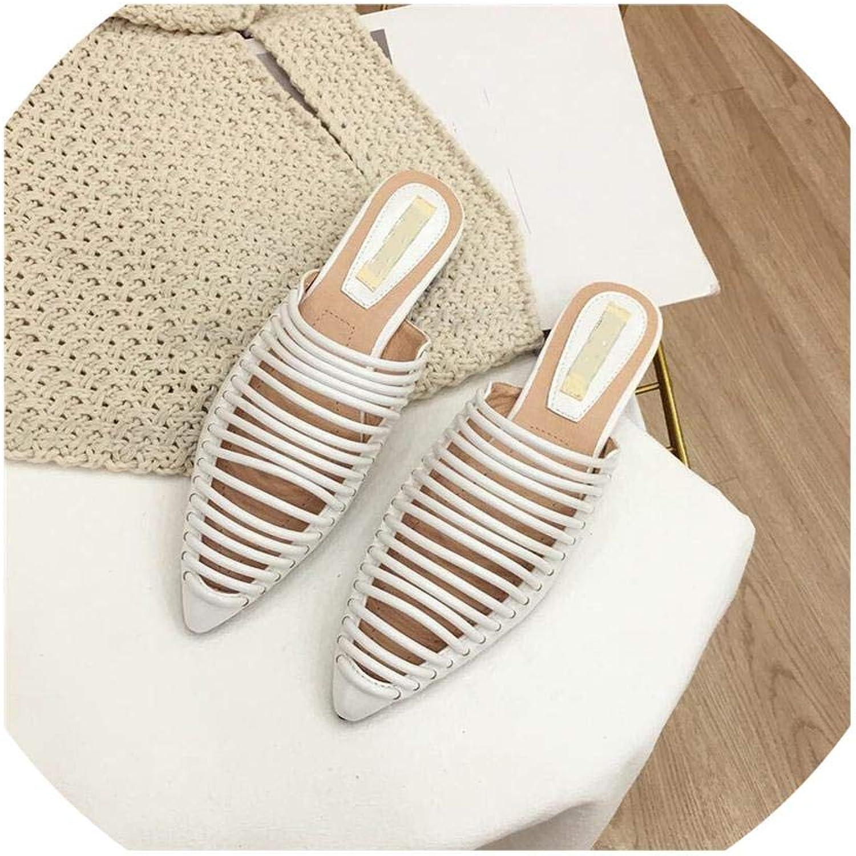 Fan-Shu Slippers Women Flats shoes Women Slides Ladies