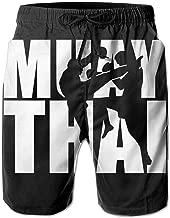 JF-X Muay Thai Men's Summer Beach Surf Board Shorts Quick Dry Swimming Trunks Casual Loose Sleep Short Pants