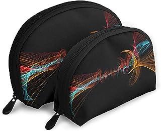 Partícula Wave Curve Bolsas portátiles Bolsa de Maquillaje
