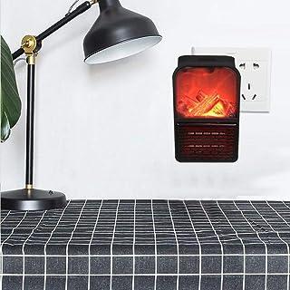 Adminitto88 - Calefactor pequeño de bajo Consumo (500 W, con Llama y protección contra el sobrecalentamiento, oscilación)