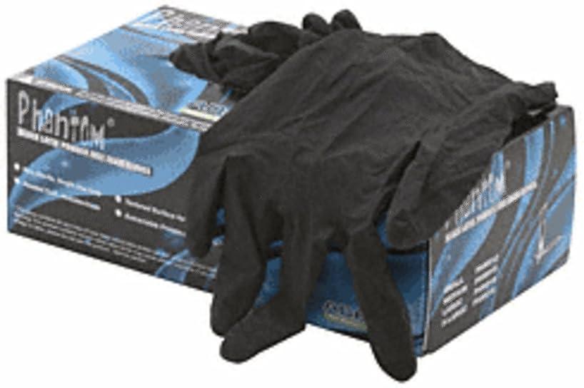 すばらしいです滑り台正気CRL Medium Disposable Black Powder Free Latex Rubber Gloves by CR Laurence by C.R. Laurence
