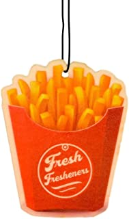 Fresh Fresheners Designer Car Air Freshener, 5 Pack 5 Scents French Fries Design, Non-Toxic Custom Auto Air Freshener, Pet Odor Eliminating, Premium Essential Oils and Long Lasting, Great Gift