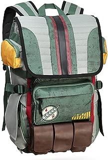 Rebels Alliance Icon Boba Fett Laptop Backpack Element Bag Travel Outdoor Sports Bag(Boba Fett's Mandalorian battle armor)