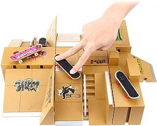 AODD Finger Skate Park Kit, 11pcs Skate Park Kit Ramp Parts for Tech Deck Fingerboard Mini Finger Skateboard, an Excellent Gift for Extreme Sports Enthusiasts, Indoor Sport Suitable for All Ages