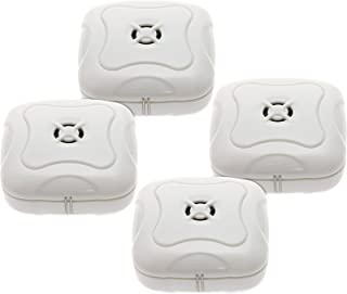 4 Pack Water Leak Detector - 95 Db Flood Detection Alarm Sensor for Bathrooms, Basements, and Kitchens by Mindful Design (White)