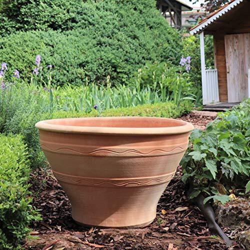 Kreta-Keramik Artemisia Pot de fleurs méditerranéen en en terre cuite fait main résistant au gel pour décoration de jardin 50 à 70 cm 70 cm
