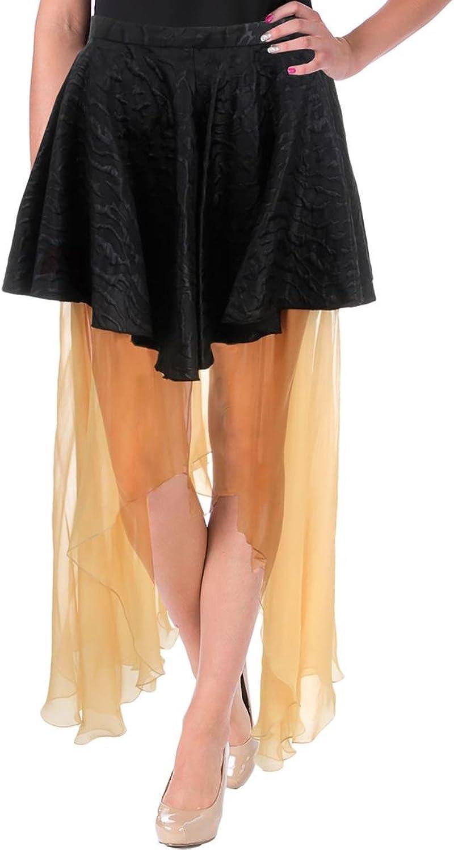 Rodarte Womens Woven Silk Lined Asymmetrical Skirt