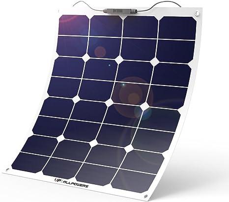 ALLPOWERS 18V 12V 50W Bendable SunPower Solar Panel