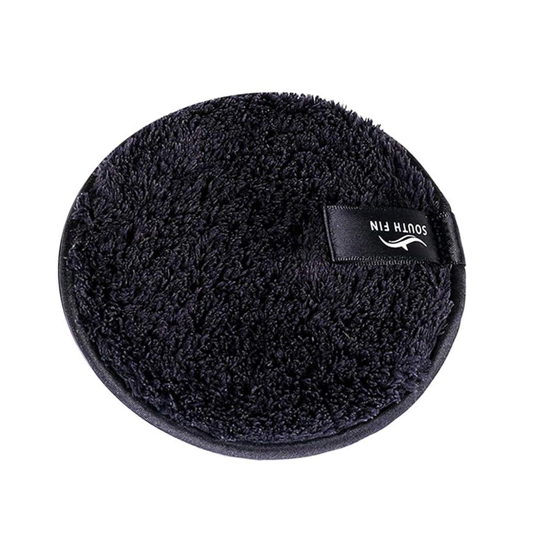 ミキサー本部させるD DOLITY メイクリムーバー スポンジ パッド クレンジングパフ 洗顔 スキンケア 3色選べ - ブラック
