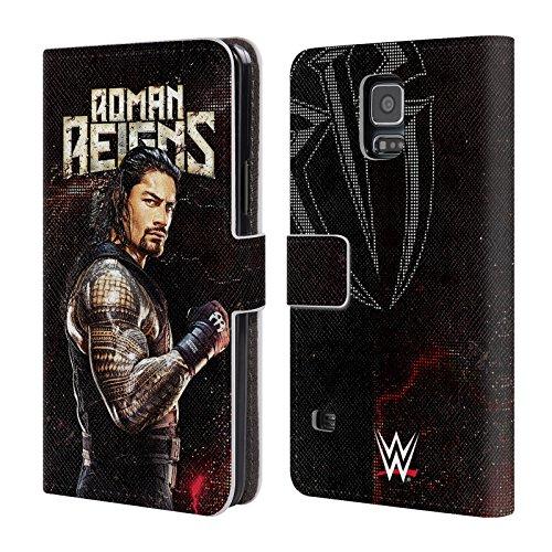 Head Case Designs Offizielle WWE Roman Reigns Superstars Leder Brieftaschen Huelle kompatibel mit Samsung Galaxy S5 / S5 Neo