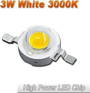 10 Pcs Hontiey High Power LED Chip 3W Warm White Light 3000K-3500K Bulbs 3 Watt Beads DIY Spotlights Floodlight COB Integration Lamp SMD