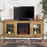 Home Accent Furnishings Lucas 58 Inch Television Stand with Fireplace in Barnwood