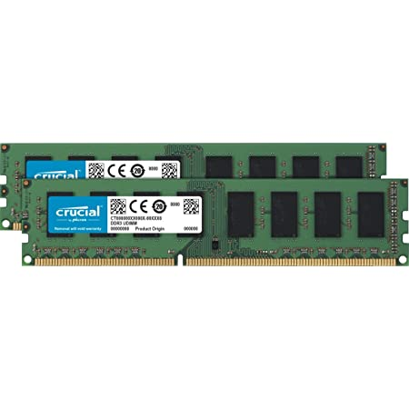 Crucial RAM 16GB Kit (2x8GB) DDR3 1600 MHz CL11 Desktop Memory CT2K102464BD160B