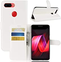 YKDY Litchi Texture Horizontal Flip Leather Case for OPPO R15 Pro, with Wallet & Holder & Card Slots (Black) (Color : White)