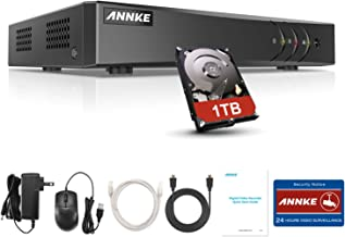 ANNKE 8-Channel 5MP Lite Security Video DVR Recorder 5-in-1 H.265+ Hybrid DVR with 1TB Hard Drive, Supports 8Pcs 5MP TVI/5...