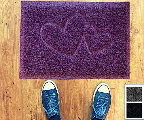 Majo Lifestyle Fussmatten Innenbereich und Außenbereich - Robuste Haustür Fußmatten - Badezimmer Teppich - Fussabtreter Geschenk - Haustiermatte - Willkommen Fußmatte außen (Lila)