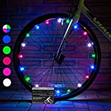 Activ Life LED Bicycle Wheel Lights (2 Tires, Multicolor) Best Kids Present for Christmas, Top Stocking Stuffers of 2020 Popular Gifts for Children Exercise Toys - Child Bday Party Outdoor Family Fun