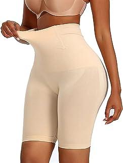 3 قطع شورت تشكيل الجسم عالي الخصر للنساء ملابس داخلية مثيرة لشد الأرداف (اللون: بني، المقاس: L)