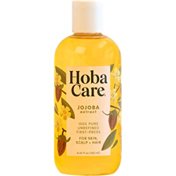 The Original Jojoba Company - HobaCare Jojoba 8.44 oz. (250 mL) – Pure Jojoba for Face and Skin – Essential Jojoba for Hair, Scalp, and Cuticles - Always Pesticide Free - 100% Pure Jojoba