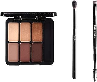 EVE PEARL Complete Eye Kit Au Natural Eyeshadow Palette Highly Pigmented Eye Shadow Palette And Brow Brush Plus Blender Brush