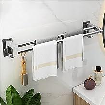 Dubbele handdoek bar roestvrij staal badkamer keuken handdoekhouder Dual handdoek staaf roestvrije muur mount geen boor 2...