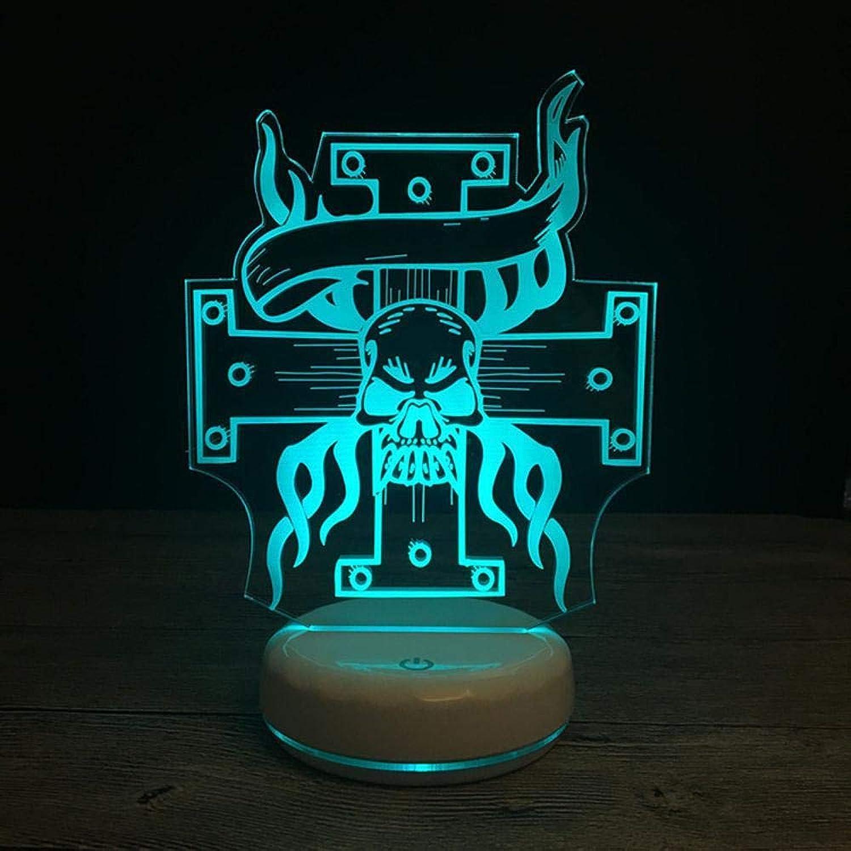 Tcaijing Nachtlicht LED Nachtlicht,WeihnachtsBunte 3D dekorative Tischlampe Porzellan wei Basis USB Netzteil