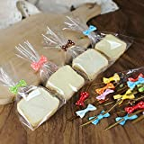 200 Pcs Assorted Colors Bow Tie Twist Ties for Cake Pops Sealing Cello Bags Lollipop Gifts Packgae