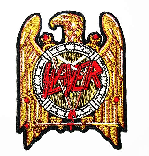 Music S Golden Eagle American Thrash Metal Band Music Logo Patch Embroidered Sew Iron On Patches Badge Bags Hat Jeans Shoes T-Shirt Applique