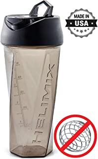 Helimix Vortex Blender Shaker Bottle 28oz | No Blending Ball or Whisk Needed | Best Portable Pre Workout Whey Protein Drink Shaker Cup | Mixes Cocktails, Smoothies and Shakes | Dishwasher Safe