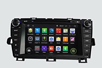 KUNFINE Android 8.0 Otca Core Car DVD GPS Navigation Multimedia Player Car Stereo for Toyota Right Driving Prius 2009 2010 2011 2012 2013 2014 Steering Wheel Control 3G WiFi Bluetooth Free Map Update