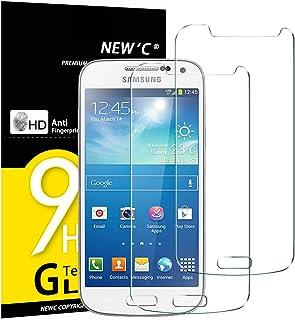 NEW'C 2 Unidades, Protector de Pantalla para Samsung Galaxy S4 Mini, Vidrio Cristal Templado