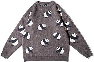 XIELH Street Cartoon Panda jacquard trui mannen winter losse hiphop trui jas