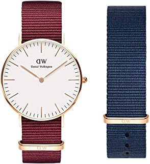 Daniel Wellington Gift Set, Classic Roselyn 36mm Watch with Bayswater Nato Strap