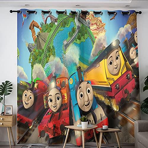 Home Decorations Vorhang Thomas, die kleine Lokomotive, Gardinen für Schlafzimmer, Jungenzimmer, 106,7 x 137,2 cm