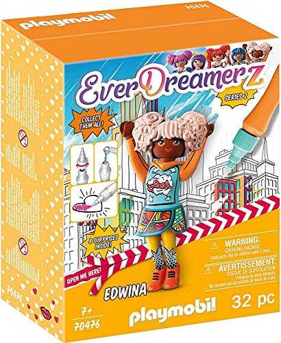 PLAYMOBIL- EverDreamerz 70476 Edwina - Comic World, Mit PLAYMOBIL-Wasserstift, Ab 7 Jahren