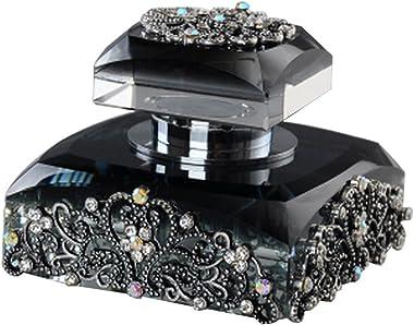 Alien Storehouse Car Perfume Crystal Car Air Freshener Perfume Bottle for Car Creative [Black]