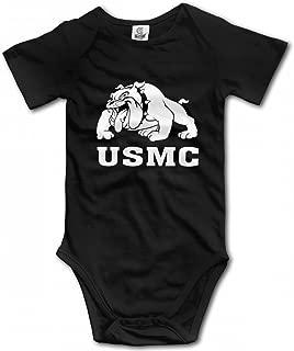 YERZ Marine Bulldog-USMC Infant Baby Girl Boy Romper Jumpsuit Outfits Clothes Sleepwear