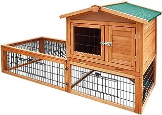 Waterproof Pet Coop Rabbit Hutch Wooden Chicken 2 Storey Tray 155cm Tall