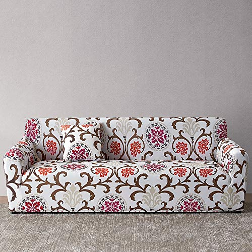WXQY Funda de sofá Europea con Todo Incluido Fundas de sofá con Estampado Floral para Sala de Estar Sofá Toalla Funda de Muebles Sillón Funda de sofá A18 4 plazas