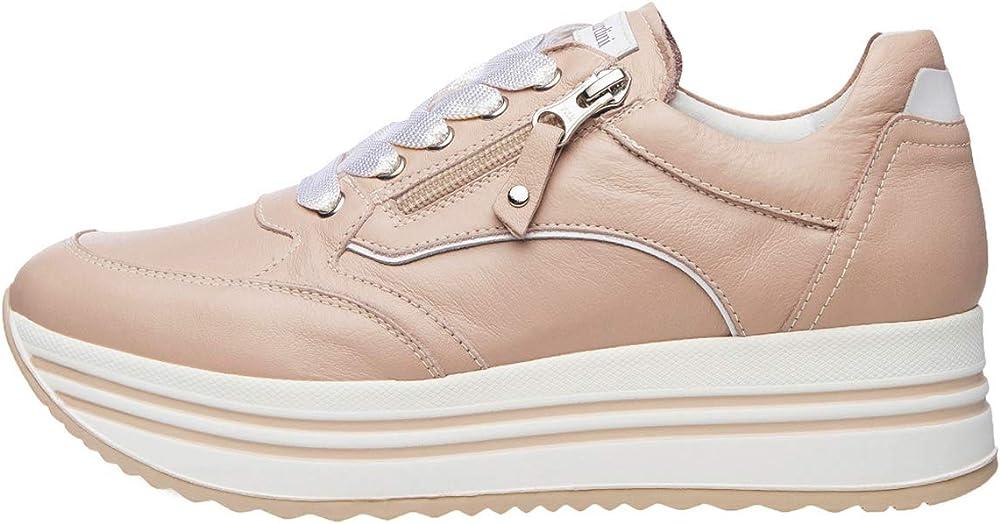 Nero giardini sneakers per donna in pelle 42541-35