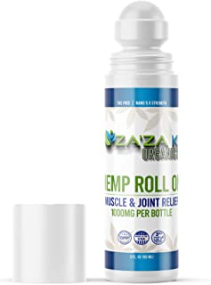 Sponsored Ad - Hemp Pain Relief Roll-On 1000mg Gel, ZA'ZA K ORGANICS - USA Made - Faster Acting, Longer Lasting, Muscle, J...