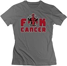 Women's New Fuck Cancer Cartoon Role T-shirt DeepHeather