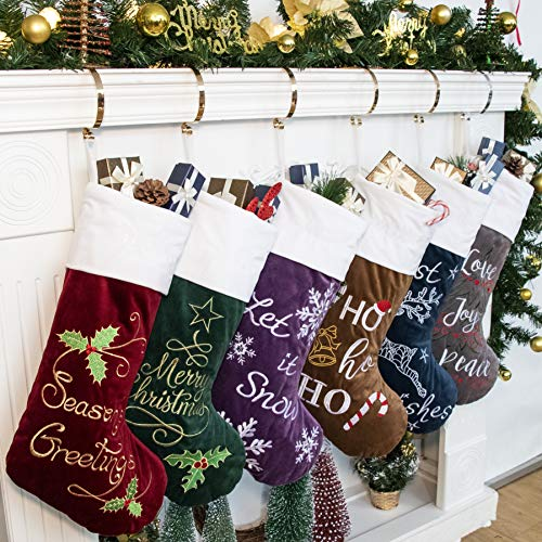 GEX Christmas Stockings 6 Pack for Family 22