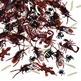 156 Stücke Plastik Realistische Wanzen, gefälschte Kakerlaken, Spinnen, Würmer und Fliegen für Halloween Party und Dekoration - 6