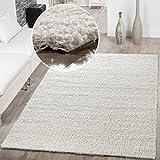 T&T Design Shaggy - Alfombra para salón, diferentes precios, varios colores, crema, 200x280 cm