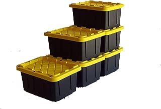 SAFARI USA 5 gallon Heavy Duty Storage Box/Tote With Lids (6 Pack, MADE IN THE USA, 20 Quart, 16