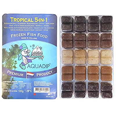 3 x 100g Frozen Fish Foods - Tropical (5 in 1) Blisters
