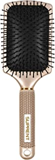 Hair Brush SUPRENT Velvet Touch Paddle Brush, Detangling Brush for Hair Straightening & Smoothing for Wet hair and Dry hair (Gold)
