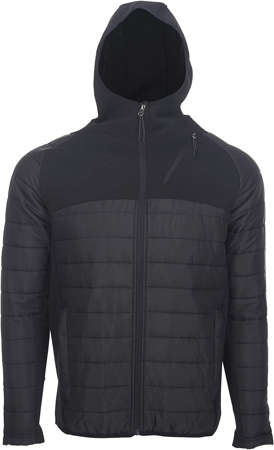 Avalanche Men's Midweight Combo Woven Knit Jacket Hoodie With Zipper Pockets